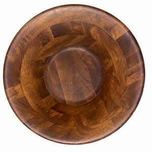 Large Acacia Teak Wood Serving Bowl